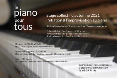 Stage d automne le piano pour tous